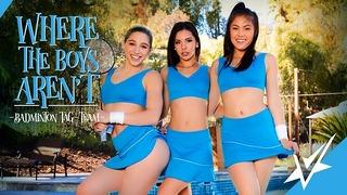 Vivid Abella, Milana and Kendra Gushing Lesbian Threeway