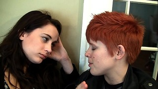 Petite Hair Hot Lesbian High School Girl Kate Fucks Her Roommate With a Strap on